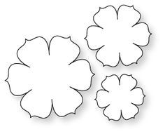 different flower patterns maybe for making flower pins templates