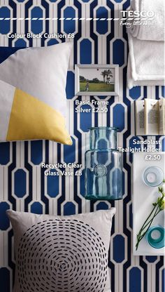 Bright blue and white combine to bring out the best in your home and add a summery feel to any room. Relax in style with our new collection of gorgeous and affordable furnishings.