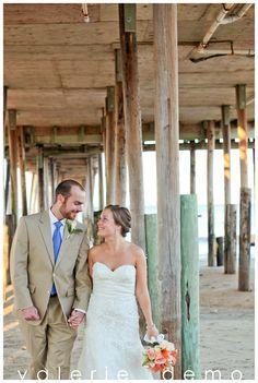 beautiful Kitty Hawk Pier House wedding