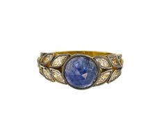 Cathy Waterman Blue Sapphire Garland Ring  engagement ring inspiration  via lucysaysido.com