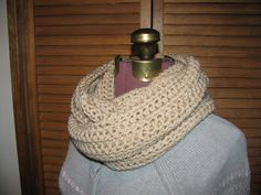 A personal favorite from my Etsy shop https://www.etsy.com/listing/125095632/biege-infinity-crochet-scarf-warm-winter