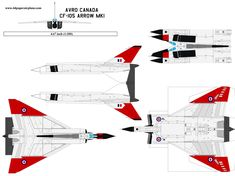 paper airplane template of Avro Canada Arrow, its story of failed project, technology, market or politics. Paper Airplane Models, Make A Paper Airplane, Model Airplanes, Paper Models, Paper Planes, Paper Toys, Paper Crafts, Avro Arrow, Paper Aircraft