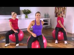 5 minute workout - Michelle Bridges Fitball workout - YouTube