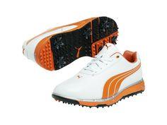 Puma Faas Track Golf Shoes - White/Orange