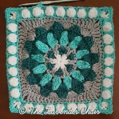 This is square #18 of the Mandala Blanket CAL. Add to your Favorites/Queue on Ravelry Materials: Lion Brands Vanna's Choice (Worsted Weight Yarn) I 5.50mm Crochet Hook Yarn Needle Difficulty: Experienced Gauge: 4Hdc = Approx 1 inch Size: 12″ x 12″ Stitches: CH: Chain- Yarn over pull through one loop. …