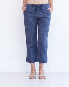 The linen capri -- the perfect summer look for a patio party or for exploring a new city