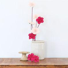 春に飾りたい!ひなまつりにもぴったりな折り紙の梅の花の折り方(おりがみ) | ぬくもり