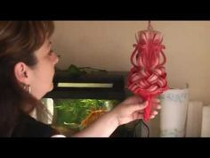 ▶ Carved Candle - YouTube I want to make these!