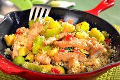 Kuskus s krůtím masem Couscous, Pasta Salad, Quinoa, At Home Workouts, Food And Drink, Cooking, Ethnic Recipes, Fitness, Bulgur