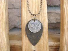 Australia Coin Necklace with Echidna Animal by BeadToLive on Etsy