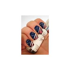 4th Of July Nails ❤ liked on Polyvore featuring beauty products, nail care and nail treatments
