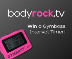 no excuses for not working out.  bodyrock.tv gives you an intense workout in 15 min for those of us with busy schedules.  Love my Gymboss interval timer!
