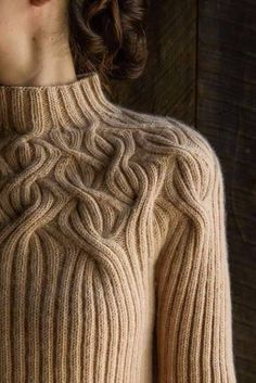 intertwining cable and rib sweater
