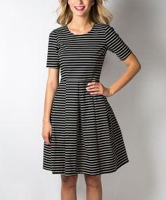 e2aac63fcb4 DownEast Basics Black & Egret Shout Out Dress - Women by DownEast Basics