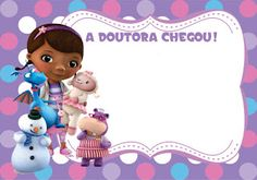Imagens e fundos para Festa Doutora Brinquedos! - Guia Tudo Festa - Blog de Festas - dicas e ideias! Doc Mcstuffins Birthday Party, 2nd Birthday Parties, 4th Birthday, Boarders And Frames, Fiesta Party, Disney Junior, Baby Party, Doctor Mcstuffins, Party Printables