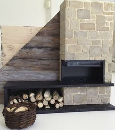 1:12 log cabin fireplace
