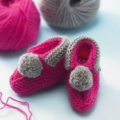 Strickmuster: Babyschuhe stricken - perfekt zur Geburt | BRIGITTE.de
