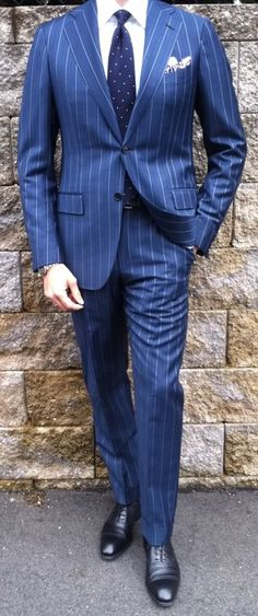 Pinstripe suits are becoming a trendsetter these days. They are not only best suitable for formal office meetings but look equally ravishing in wedding par