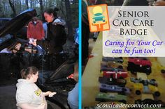 Senior Girl Scouts also mean new drivers on the road. This is a great time to work on the Senior Car Care badge everything you need to earn the badge