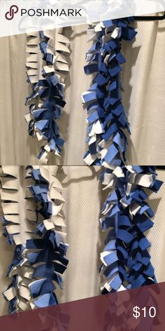875a63b1640b Set of 2 Blue White Spirit Scarves NEW football Perfect for cheering on  your favorite team