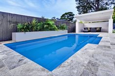 Narellan Pools Symphony Pool in Cobalt Blue. Backyard dream! #NarellanPoolsInspiration