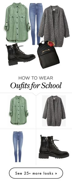 """Casual school outfit."" by tamara-dragojlovic on Polyvore featuring Paige Denim, Toast, Kendall + Kylie and Betsey Johnson"