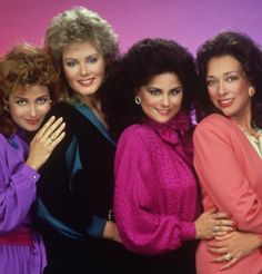 Fashion's Retro Inspirations 2012 — pallet and Flower Shoulder, tiers return — Popular TV show, 'Designing Women' displays color trends Best Tv Shows, Favorite Tv Shows, Favorite Things, Designing Women, 80s Big Hair, 1980s Tv Shows, Musik Genre, Big Hair Bands, Mejores Series Tv