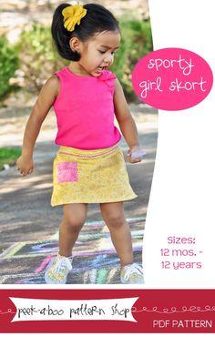 Sporty Girl Skort sewing pattern