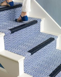 Tweak your treads by crafting leather lining for each stair step. The addition looks luxe and prevents your staircase from showing signs of wear and tear.