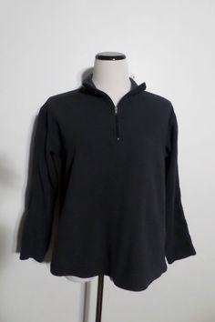 PATAGONIA SYNCHILLA Women's Black 1/2 Zip Pullover Fleece Sweater Size S #Patagonia #12Zip