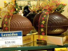 Classic Belgian Easter, (Leonidas) Medium Chocolate Easter Eggs filled with chocolates #belgium
