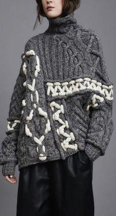 épaisseur の tricot, le pull gris (knit), Pull Gris, Trend Council, Indie Fashion, Trendy Fashion, Surf Fashion, Gypsy Fashion, Fashion Ideas, Knitwear Fashion, Models