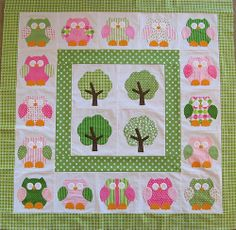 Hooterville owl applique quilt | Flickr - Photo Sharing!
