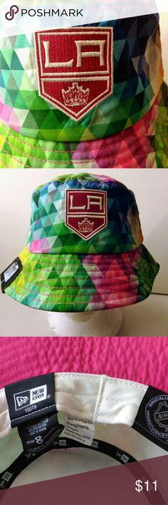 e69f81577fdb39 Los Angeles Kings New Era YOUTH NHL Bucket Hat LA Kings Authentic NHL New  Era Genuine