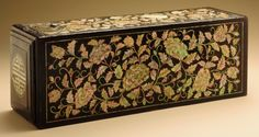 Letters Buried within a 16th Century Tomb Tell of Ancient Korean Past: 18th Century Joseon Dynasty Document Box. Black lacquer on wood core with gold painted decoration, mother-of-pearl inlay and metal fittings. KOREAN ANTIQUES AND ART : More At FOSTERGINGER @ Pinterest