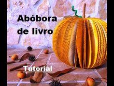 Tutorial - Abóbora de folhas de livro - YouTube