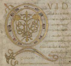 Trésor de la Cathédrale: ms.12 'Psautier du Comte Henri'.  A carolingian manuscript from before AD 850.