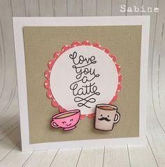 Lawn Fawn, love you a latte, coffee, card