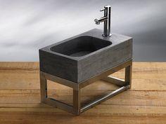 Megabad Bluestone Naturstein-Handwaschbecken eckig 50 cm - MEGABAD ... | {Waschbecken rechteckig stein 81}