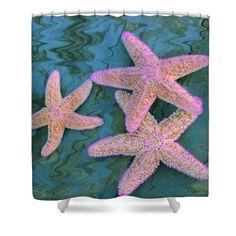 Star Power Shower Curtain by Marnie Patchett