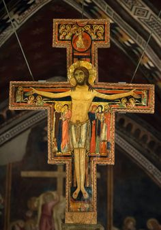 San Damiano Crucifix, fashioned around the year 1100, was moved to the Basilica of St Clare, Assisi, in 1257.