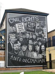 Civil rights mural, Bogside