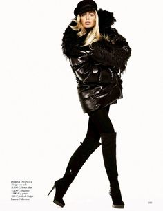 visual optimism; fashion editorials, shows, campaigns & more!: black power: doutzen kroes by tom munro for vogue spain september 2013