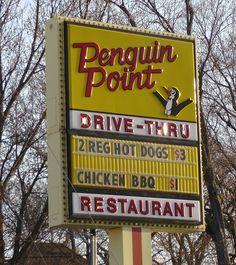 Penguin Point Restaurant, Elkhart County, Indiana PENGUIN...enough said!!