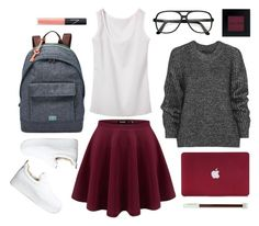"""""""school outfit #1"""" by nicholas-the-third ❤ liked on Polyvore featuring Belstaff, FOSSIL, Bobbi Brown Cosmetics, NARS Cosmetics and Windsor Smith"""