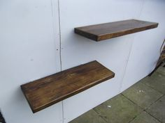 RUSTIC FLOATING SHELVES X 2. Handmade from reclaimed timber.