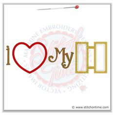 5288 Sayings : I Heart My Captain Applique 6x10