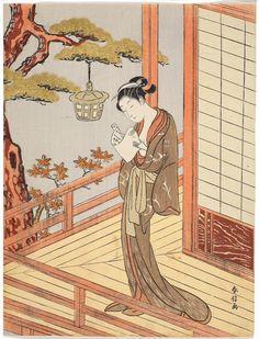 Suzuki Harunobu (Japanese, 1725?-1770), A secret missive, ca. 1768, chūban nishiki-e (color woodblock print)