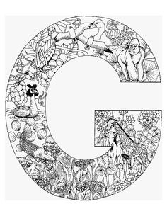 Alphabet Animal Coloring Pages G