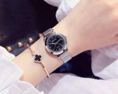 Elegantné dámske hodinky v troch rôznych farebných prevedeniach,